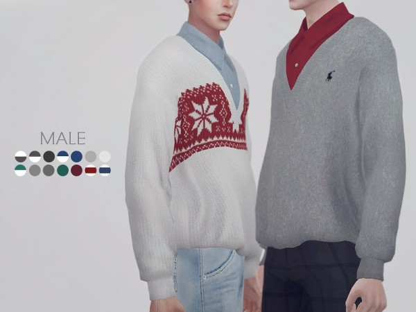 The Sims Resource: Sweater 02 M by KK Sims