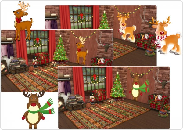 Annett`s Sims 4 Welt: Wall Deco Reindeer