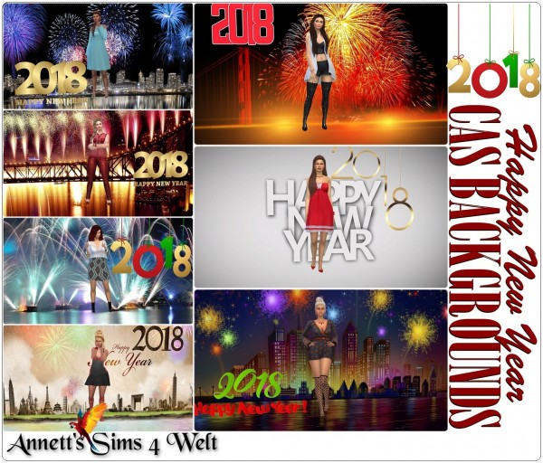 Annett`s Sims 4 Welt: CAS Backgrounds   Happy New Year 2018