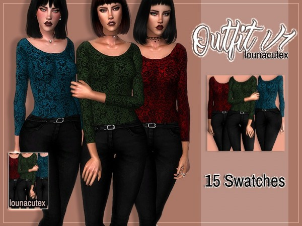 The Sims Resource: Outfit V1   Lounacutex by Louna
