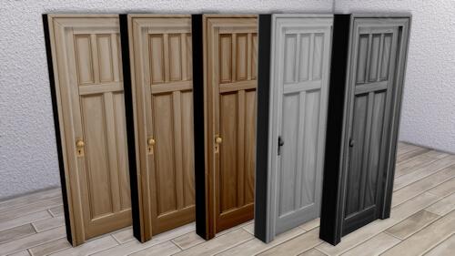 La Luna Rossa Sims: Wooden Five Panel Door