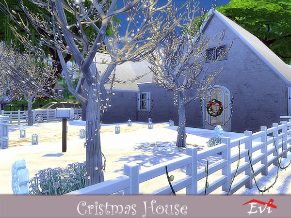 The Sims Resource: Christmas house by evi