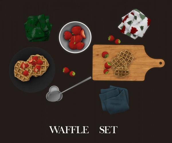 Leo 4 Sims: Waffle Set decor