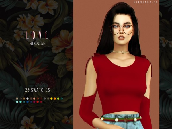 The Sims Resource: Love Blouse by Heavendy cc