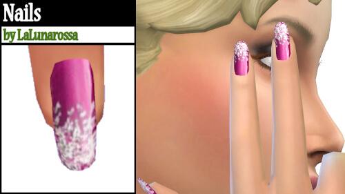 La Luna Rossa Sims: Glitter nails