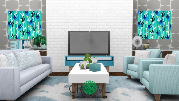 Simsational designs: Grove Furniture Collection Redux