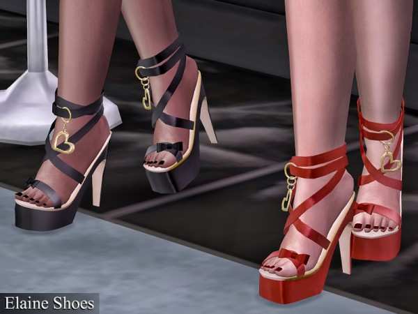 The Sims Resource: Elaine Shoes by Genius666