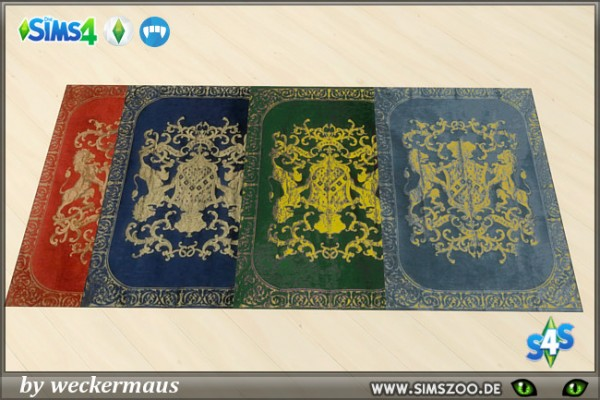 Blackys Sims 4 Zoo: Royal Style rugs by weckermaus