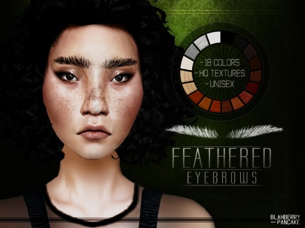 The Sims Resource: Feathered Eyebrows by  Blahberry Pancake