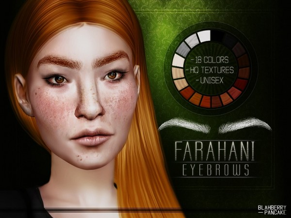 The Sims Resource: Farahani Eyebrows by Blahberry Pancake