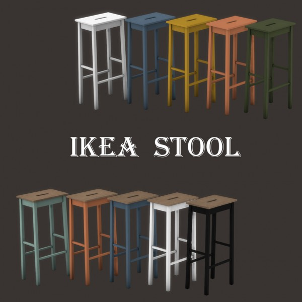 Leo 4 Sims Ikea Stool Sims 4 Downloads