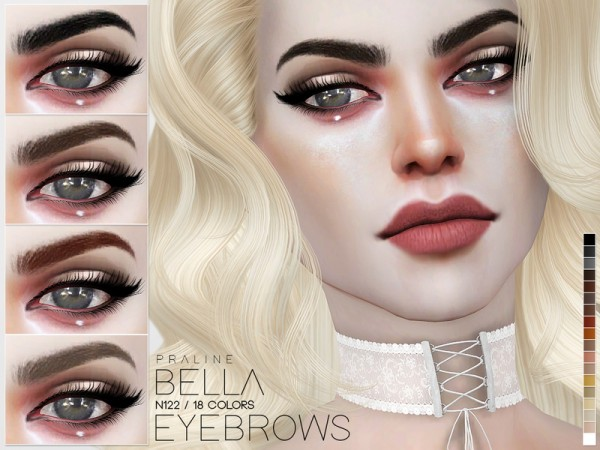 The Sims Resource: Bella Eyebrows N122 by Pralinesims