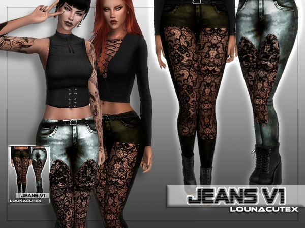 The Sims Resource: Jeans V1   Lounacutex by Louna