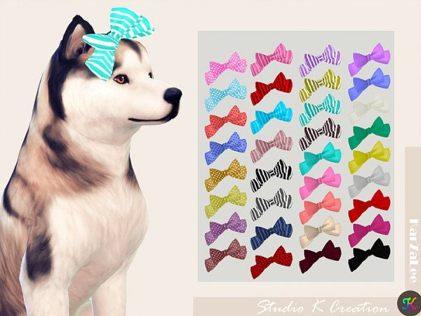 Studio K Creation: Head bow for dog