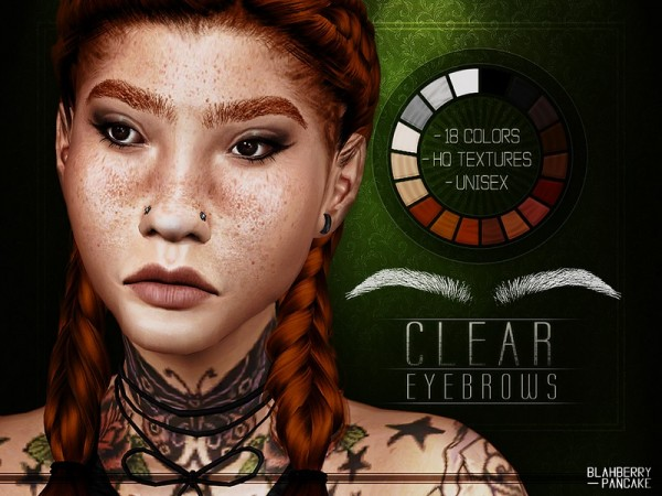The Sims Resource: Clear Eyebrows by Blahberry Pancake