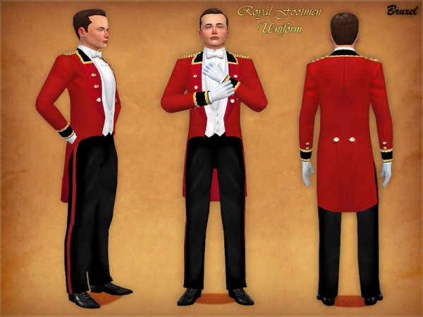 The Sims Resource: Royal Footmen Uniform by Bruxel