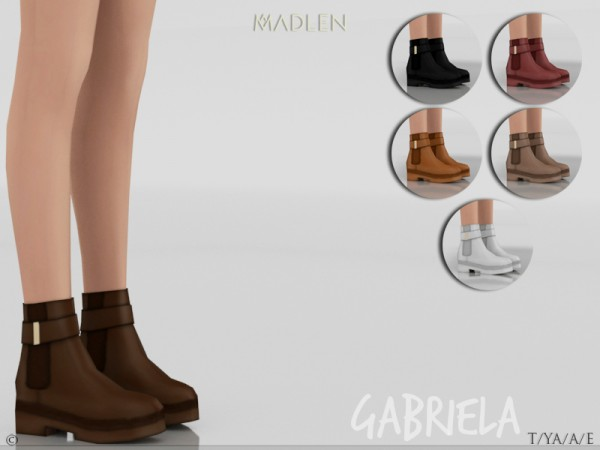 The Sims Resource: Madlen Gabriela Boots by MJ95