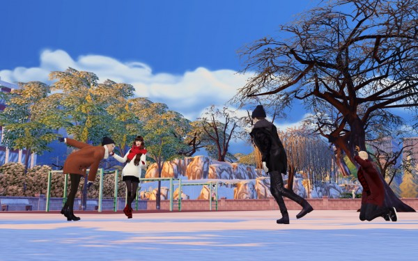 Flower Chamber: Snowing fun poses sets
