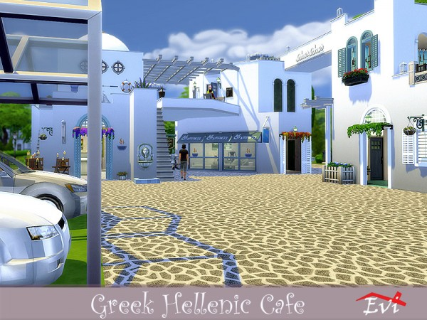 The Sims Resource: Greek Hellenic Cafe by evi