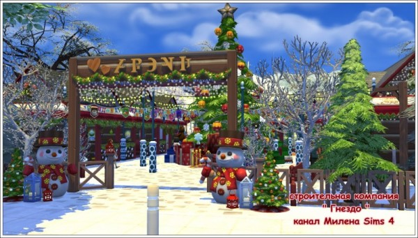Sims 3 Christmas Tree.Sims 3 By Mulena Cafe Christmas Tree Market Sims 4 Downloads