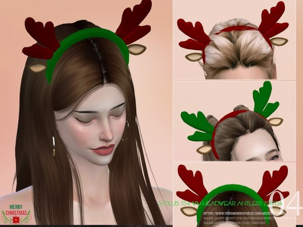 The Sims Resource: Headwear antlers 201704 by S Club