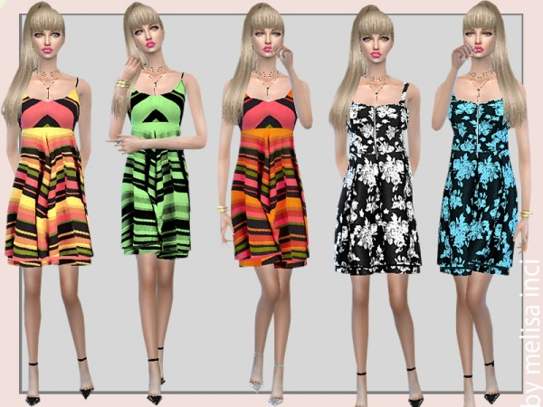 The Sims Resource: Bodice Skater Dress by  melisa inci