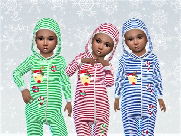 The Sims Resource: Cuddly pajamas WinterbabeZ. 06 by Zuckerschnute20