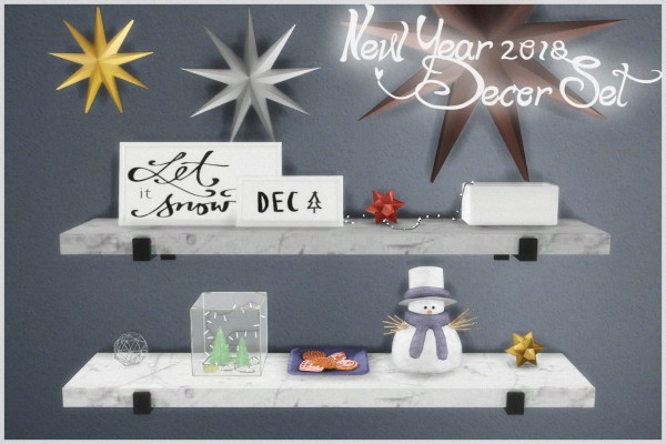 Helen Sims: New Year 2018   Decor Set