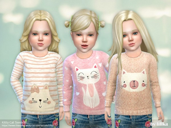 The Sims Resource: Kitty Cat Sweater by lillka