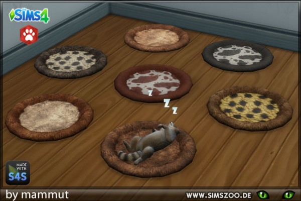 Blackys Sims 4 Zoo: Pet Beds Fur by von mammut