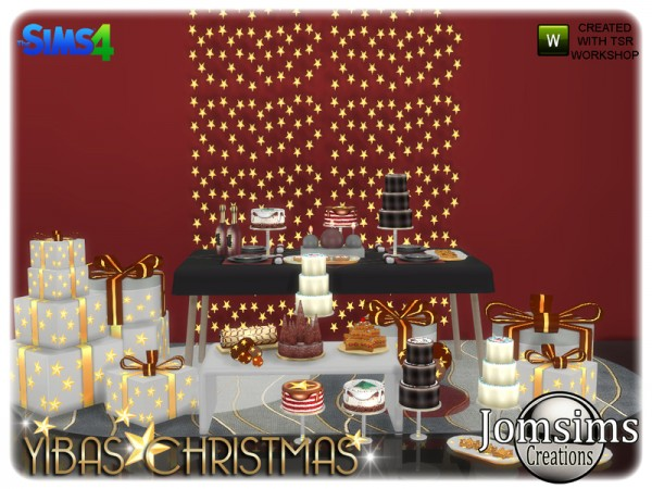 The Sims Resource Yibas Christmas Deco Set By Jomsims