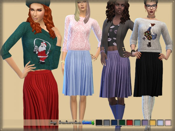 The Sims Resource: Pleated Skirt by bukovka