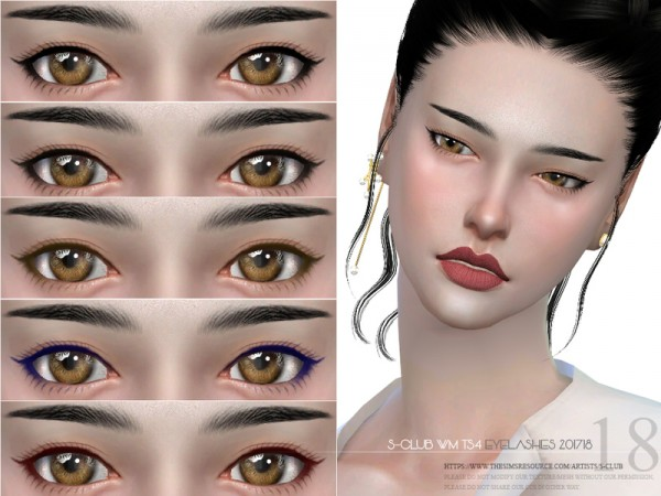 The Sims Resource: Eyelashes 201718 by S Club
