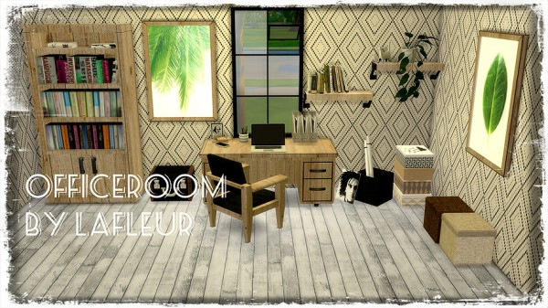 Lafleur 4 Sims: Mebel office