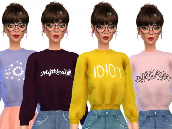 The Sims Resource Tumblr Themed Crop Tops By Wicked