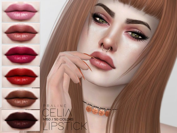 The Sims Resource: Celia Lipstick N150 by Pralinesims