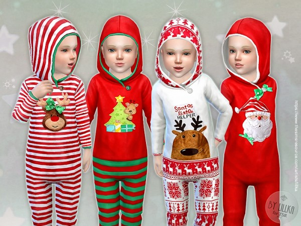 The Sims Resource: Christmas Sleepsuit by lillka