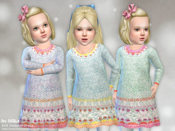 The Sims Resource: Knit Sweater Dress by lillka