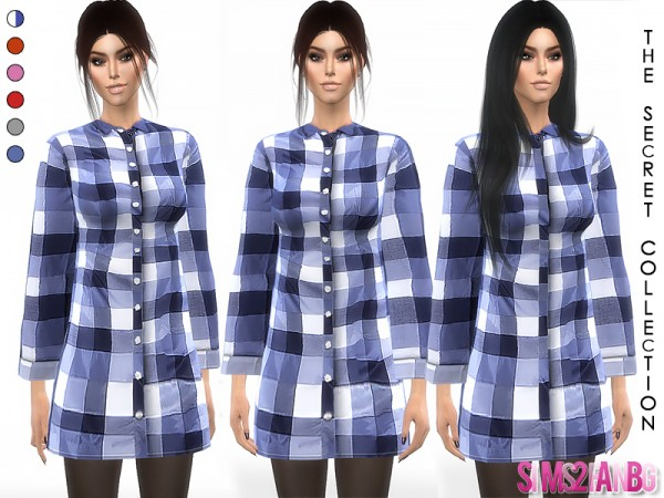 The Sims Resource: 345   Plaid Coat by sims2fanbg
