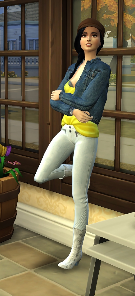 Sims Artists: Set of pose Against the wall