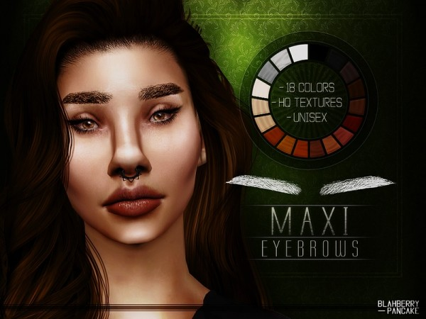The Sims Resource: Maxi Eyebrows by Blahberry Pancake