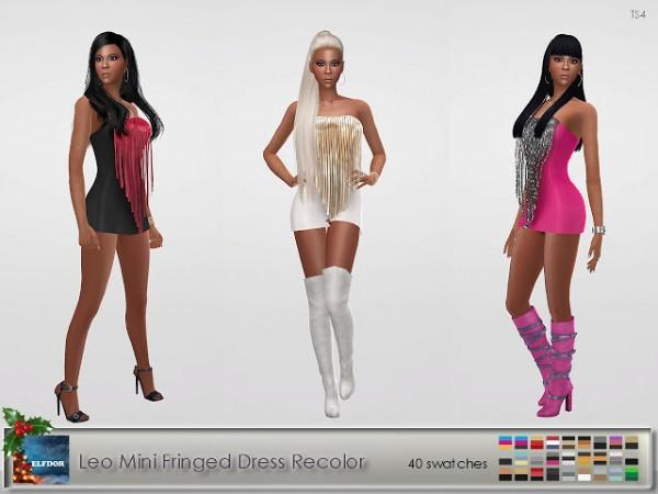 Elfdor: Mini Fringed Dress Recolor   New Year edition