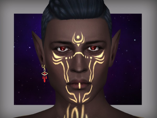 The Sims Resource: I see you   earrings by WistfulCastle