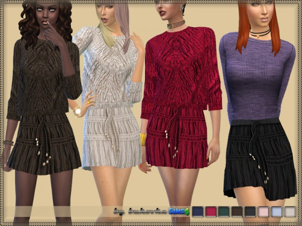 The Sims Resource: Corrugated Skirt by bukovka