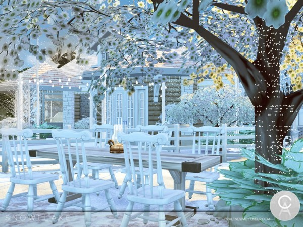 The Sims Resource: Snowflake house by Pralinesims