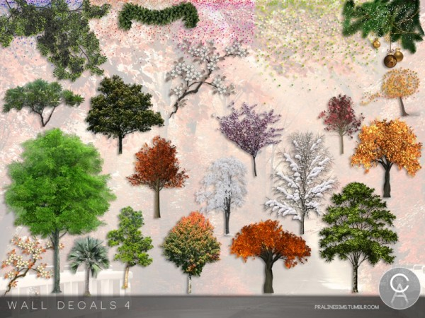 The Sims Resource: Wall Decals 4 by Pralinesims