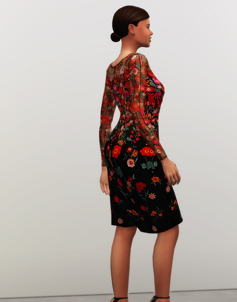 Rusty Nail: Red embroidered dress