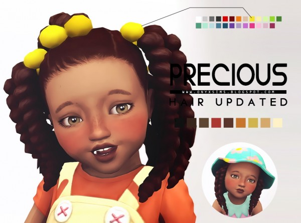 Onyx Sims: Precious hair retextured for toddlers