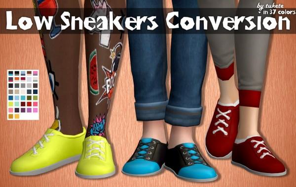 Tukete: Low Sneakers Conversion