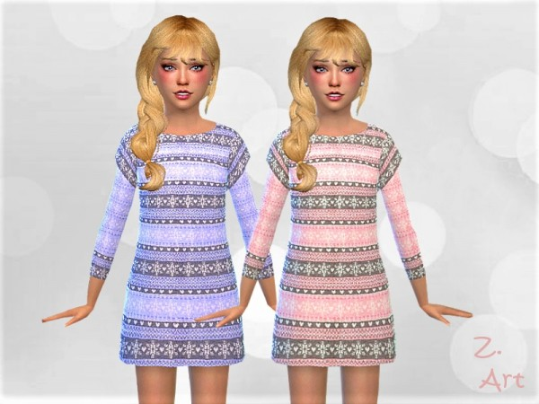 The Sims Resource: Winter dress KidZ. 03 by Zuckerschnute20